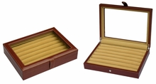 Leather Cufflinks Case in Brown 36 pair