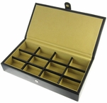Leather Cufflinks Storage Box 12 pairs