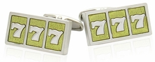 Lucky Sevens Slot Machine Cufflinks