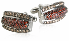 Marcasite Sterling Silver Abstract Cufflinks