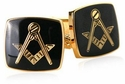 Masonic Compass Gold Cufflinks