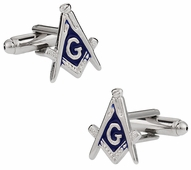Masonic Cufflinks in Silver Tone - Made in USA