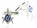 Masonic Cufflinks in Sterling Silver