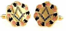 Masonic Loving Brotherhood Hands Cufflinks