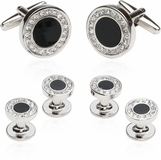Men's Onyx and Cubic Zirconia Formal Set