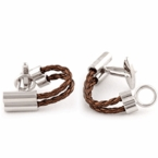 Metallic Brown Wrap Around Cufflinks