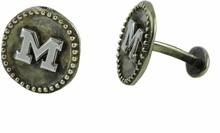 Michigan Wolverines Sterling Silver Logo Cufflinks