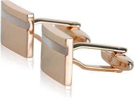 Mother of Pearl Rose Gold Cufflinks