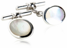 Mother of Pearl Sterling Silver Cufflinks