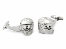 Motorcycle Helmet Cufflinks