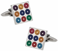 Multi-Color Turntables Cufflinks