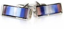 Multi-colored Glass Cufflinks