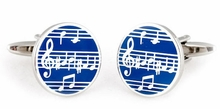 Music Cufflinks in Enamel