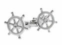Nautical Sterling Ships Wheel Cufflinks