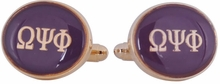 Omega Psi Phi Purple Gold Cufflinks