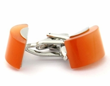 Orange Glass Cufflinks