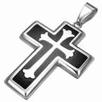 Ornate Black Cross pendant