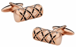 Ornate Rose Gold Cufflinks