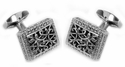 Ornate Stainless Steel Cufflinks