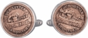 Our Little Monitor Civil War Token Cufflinks