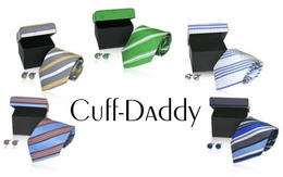 Outstanding Deal for 5 Matching Cufflink and Silk Tie Sets (STOCKED OUT)