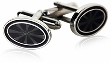 Oval Black Cufflinks