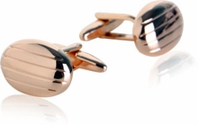 Oval Rose Gold Cufflinks