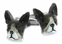 Painted Boston Terrier Cufflinks