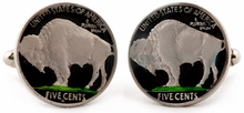 Painted Buffalo Nickel Cufflinks