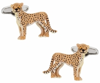 Painted Cheetah Cufflinks
