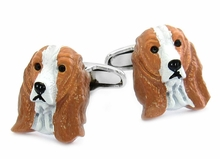 Painted Cocker Spaniel Dog Cufflinks