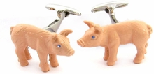 Painted Pig Cufflinks