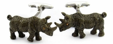 Painted Rhino Cufflinks