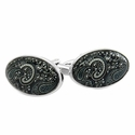 Paisley Cufflinks in Black