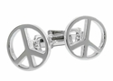 Peace Sign Cufflinks in Sterling Silver