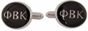 Phi Beta Kappa Cufflinks in Silver