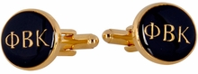 Phi Beta Kappa Gold Cufflinks