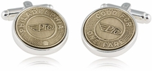 Philadelphia Subway Token Cufflinks
