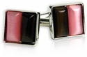 Pink & Brown Cufflinks