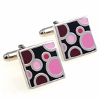 Pink Bubble Cufflinks