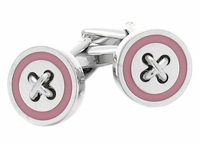 Pink Button Cufflinks