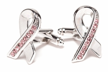 Pink Ribbon Breast Cancer Cufflinks