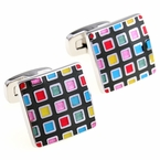 Pixelated Cufflinks
