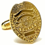 Police Badge Cufflinks