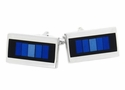 Prismatic Blue Cufflinks