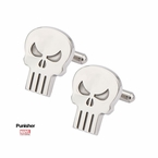 Punisher Silver-Tone Skull Cufflinks
