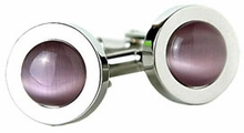 Purple Glass Cufflinks