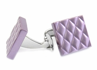 Quilted Metallic Purple Cufflinks