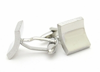 Raw Edge Silver Cufflinks