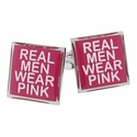 Real Men Wear Pink Cufflinks